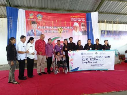Masyarakat Desa Selat Terima Bantuan pada Hari Kesetiakawanan Sosial Tahun 2019 Provinsi Bali