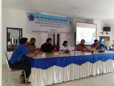 Musyawarah Desa Khusus Finalisasi Penetapan Penerima Manfaat BLT