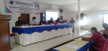 MUSRENBANG Desa Penyusunan RKPDes Tahun 2022